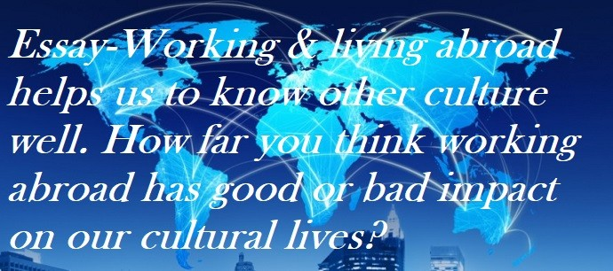 sample essay working and living abroad helps us to know other culture