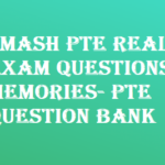 Smash PTE Real Exam Questions Memories- PTE Question Bank 2018